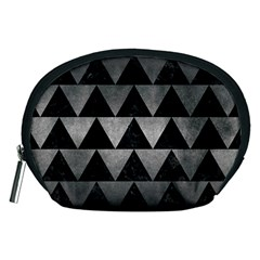 Triangle2 Black Marble & Gray Metal 1 Accessory Pouches (medium)