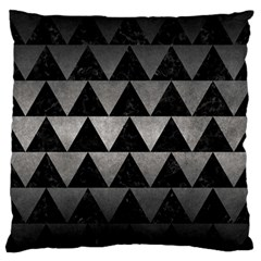 Triangle2 Black Marble & Gray Metal 1 Large Flano Cushion Case (two Sides) by trendistuff