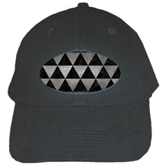Triangle3 Black Marble & Gray Metal 1 Black Cap by trendistuff