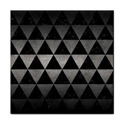 Triangle3 Black Marble & Gray Metal 1 Tile Coasters by trendistuff