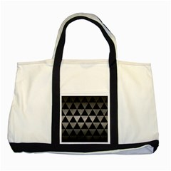 Triangle3 Black Marble & Gray Metal 1 Two Tone Tote Bag by trendistuff