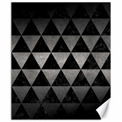 Triangle3 Black Marble & Gray Metal 1 Canvas 20  X 24   by trendistuff