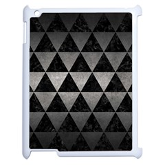 Triangle3 Black Marble & Gray Metal 1 Apple Ipad 2 Case (white) by trendistuff
