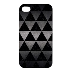 Triangle3 Black Marble & Gray Metal 1 Apple Iphone 4/4s Hardshell Case by trendistuff