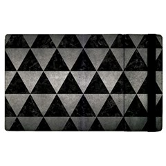 Triangle3 Black Marble & Gray Metal 1 Apple Ipad 2 Flip Case