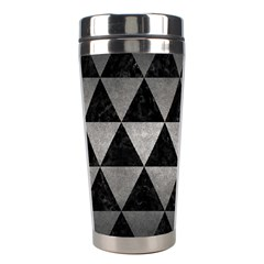 Triangle3 Black Marble & Gray Metal 1 Stainless Steel Travel Tumblers by trendistuff