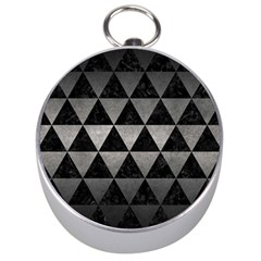Triangle3 Black Marble & Gray Metal 1 Silver Compasses by trendistuff