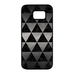 Triangle3 Black Marble & Gray Metal 1 Samsung Galaxy S7 Edge Black Seamless Case by trendistuff