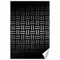 Woven1 Black Marble & Gray Metal 1 Canvas 20  X 30   by trendistuff