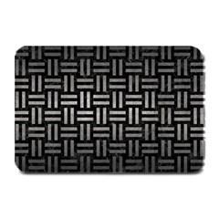 Woven1 Black Marble & Gray Metal 1 Plate Mats by trendistuff