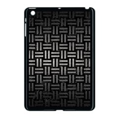 Woven1 Black Marble & Gray Metal 1 Apple Ipad Mini Case (black) by trendistuff