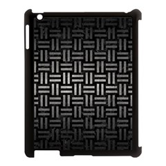 Woven1 Black Marble & Gray Metal 1 Apple Ipad 3/4 Case (black) by trendistuff