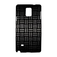 Woven1 Black Marble & Gray Metal 1 Samsung Galaxy Note 4 Hardshell Case by trendistuff