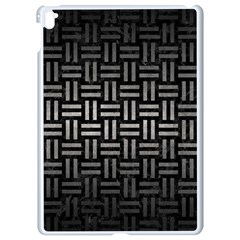 Woven1 Black Marble & Gray Metal 1 Apple Ipad Pro 9 7   White Seamless Case by trendistuff
