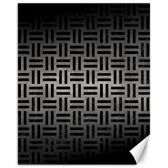 Woven1 Black Marble & Gray Metal 1 (r) Canvas 16  X 20