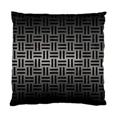 Woven1 Black Marble & Gray Metal 1 (r) Standard Cushion Case (two Sides) by trendistuff