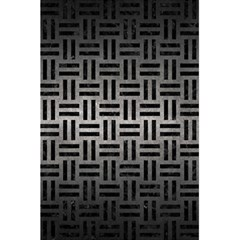 Woven1 Black Marble & Gray Metal 1 (r) 5 5  X 8 5  Notebooks by trendistuff