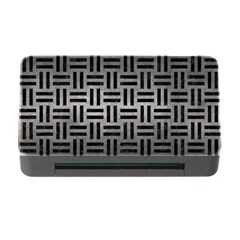 Woven1 Black Marble & Gray Metal 1 (r) Memory Card Reader With Cf by trendistuff