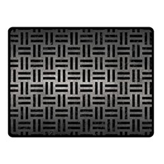Woven1 Black Marble & Gray Metal 1 (r) Double Sided Fleece Blanket (small)  by trendistuff