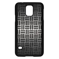 Woven1 Black Marble & Gray Metal 1 (r) Samsung Galaxy S5 Case (black) by trendistuff