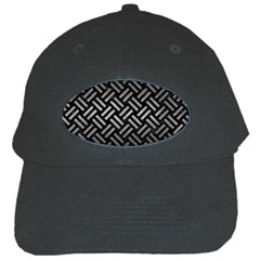 Woven2 Black Marble & Gray Metal 1 Black Cap by trendistuff