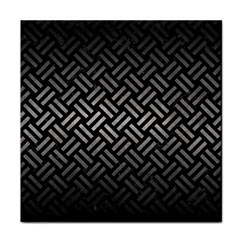 Woven2 Black Marble & Gray Metal 1 Tile Coasters by trendistuff