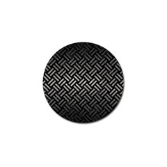 Woven2 Black Marble & Gray Metal 1 Golf Ball Marker by trendistuff