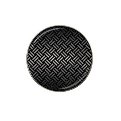 Woven2 Black Marble & Gray Metal 1 Hat Clip Ball Marker (4 Pack) by trendistuff