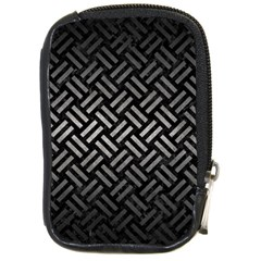 Woven2 Black Marble & Gray Metal 1 Compact Camera Cases by trendistuff