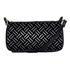 Woven2 Black Marble & Gray Metal 1 Shoulder Clutch Bags by trendistuff