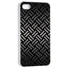 Woven2 Black Marble & Gray Metal 1 Apple Iphone 4/4s Seamless Case (white) by trendistuff