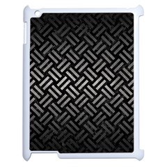 Woven2 Black Marble & Gray Metal 1 Apple Ipad 2 Case (white) by trendistuff