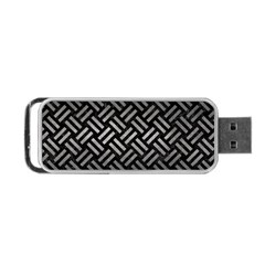 Woven2 Black Marble & Gray Metal 1 Portable Usb Flash (two Sides) by trendistuff