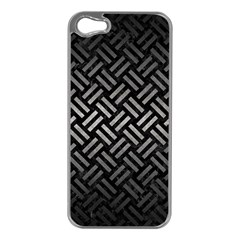 Woven2 Black Marble & Gray Metal 1 Apple Iphone 5 Case (silver) by trendistuff