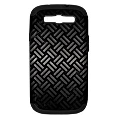 Woven2 Black Marble & Gray Metal 1 Samsung Galaxy S Iii Hardshell Case (pc+silicone) by trendistuff