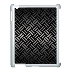 Woven2 Black Marble & Gray Metal 1 Apple Ipad 3/4 Case (white) by trendistuff