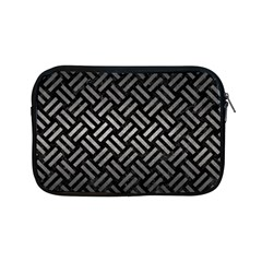 Woven2 Black Marble & Gray Metal 1 Apple Ipad Mini Zipper Cases by trendistuff
