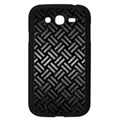Woven2 Black Marble & Gray Metal 1 Samsung Galaxy Grand Duos I9082 Case (black) by trendistuff
