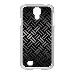 Woven2 Black Marble & Gray Metal 1 Samsung Galaxy S4 I9500/ I9505 Case (white) by trendistuff
