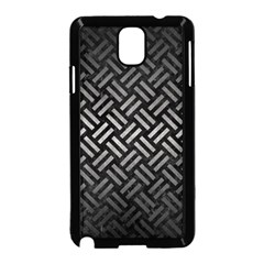 Woven2 Black Marble & Gray Metal 1 Samsung Galaxy Note 3 Neo Hardshell Case (black) by trendistuff