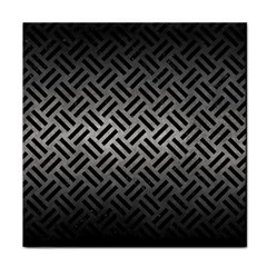 Woven2 Black Marble & Gray Metal 1 (r) Tile Coasters by trendistuff