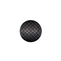 Woven2 Black Marble & Gray Metal 1 (r) 1  Mini Magnets by trendistuff