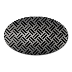 Woven2 Black Marble & Gray Metal 1 (r) Oval Magnet by trendistuff