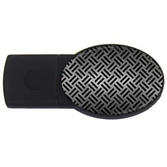 Woven2 Black Marble & Gray Metal 1 (r) Usb Flash Drive Oval (2 Gb) by trendistuff