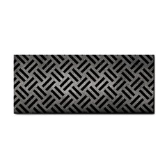 Woven2 Black Marble & Gray Metal 1 (r) Cosmetic Storage Cases