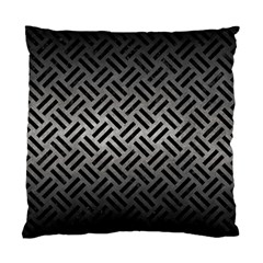 Woven2 Black Marble & Gray Metal 1 (r) Standard Cushion Case (one Side) by trendistuff