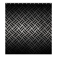 Woven2 Black Marble & Gray Metal 1 (r) Shower Curtain 66  X 72  (large)  by trendistuff