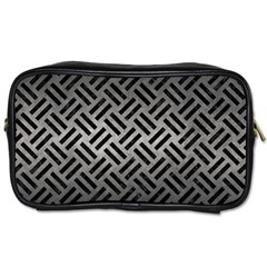 Woven2 Black Marble & Gray Metal 1 (r) Toiletries Bags 2 Side by trendistuff