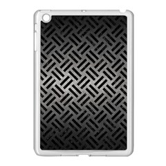 Woven2 Black Marble & Gray Metal 1 (r) Apple Ipad Mini Case (white) by trendistuff