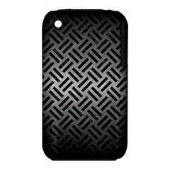 Woven2 Black Marble & Gray Metal 1 (r) Iphone 3s/3gs by trendistuff